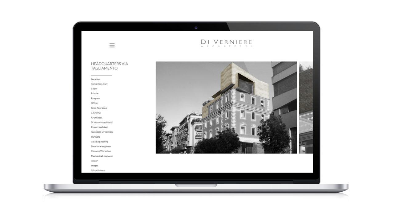 Mockup sito desktop
